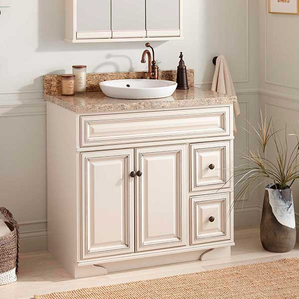 To get a kitchen which stations classic farmhouse or cottage design, beaded board is a wonderful way to instantly enhance charm. Use it like a backsplash, either on the bottom of an island or to cover whole walls. Painted crisp white, buttercream or mint green, beadboard can bring a spirit into the plainest white box of a kitchen.